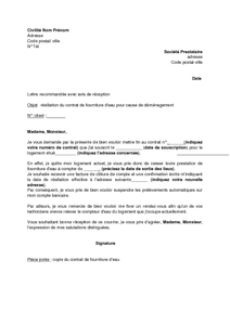 7918b5d9eb6 Exemple gratuit de Lettre résiliation contrat fourniture eau cause ...