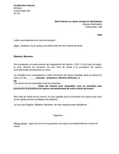 08208d8ebcb Exemple gratuit de Lettre rétractation