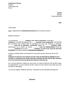 exemple lettre de motivation maison de retraite