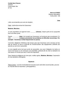 Exemple de cv syndic de copropriete for Autorisation de construction