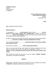Lettre De Signalement D Actes De Racket Au Directeur D Un