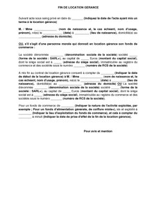 Exemple de lettre gratuit de Modèle avis résiliation location