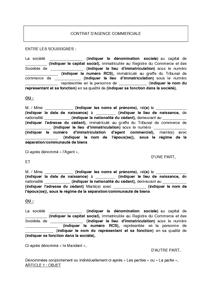 Modele De Contrat D Agence Commerciale Modele De Lettre Gratuit Exemple De Lettre Type Documentissime