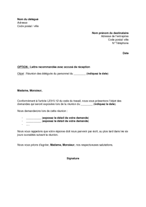 Modele De Note Des Delegues Du Personnel A L Employeur Avant Une Reunion Modele De Lettre Gratuit Exemple De Lettre Type Documentissime
