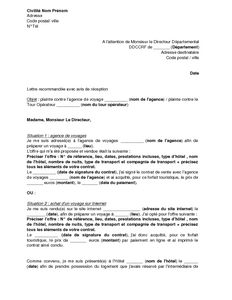 Lettre demande d 39 emploi agence de voyage employment for Agence reservation hotel