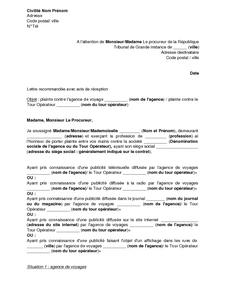 Exemple De Lettre Gratuit De Plainte Procureur R 233 Publique