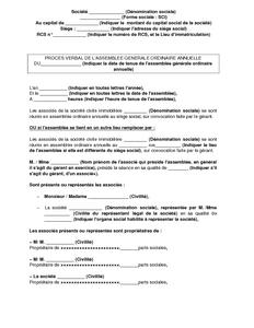 Modele procuration assemblee generale sci document online - Creation d une sci familiale ...
