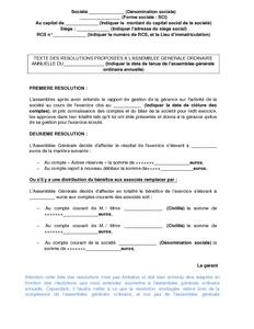 Texte Des R Solutions Propos Es L 39 Assembl E G N Rale