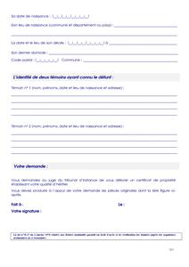 cerfa n 12786 01 demande de d livrance d un certificat de propri t documentissime. Black Bedroom Furniture Sets. Home Design Ideas