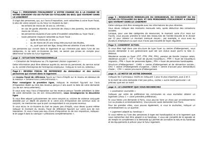 ... du formulaire de demande de logement social cerfa n 51423 01